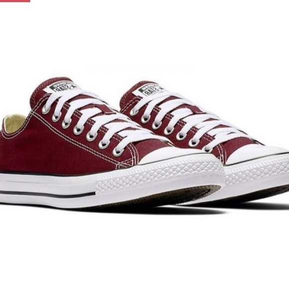 Burgundy Converse Shoes 'chucks'